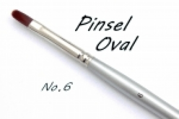 Pinsel Oval N6    Set 5 Stck